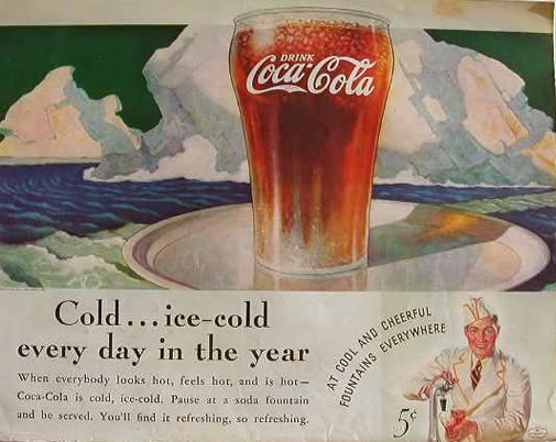 an analysis of how a typical coca cola advertisement looks like The coca-cola bottle is an american icon it has been seen in many paintings, like  norman rockwell painting with coca-cola, commercials, and movies.