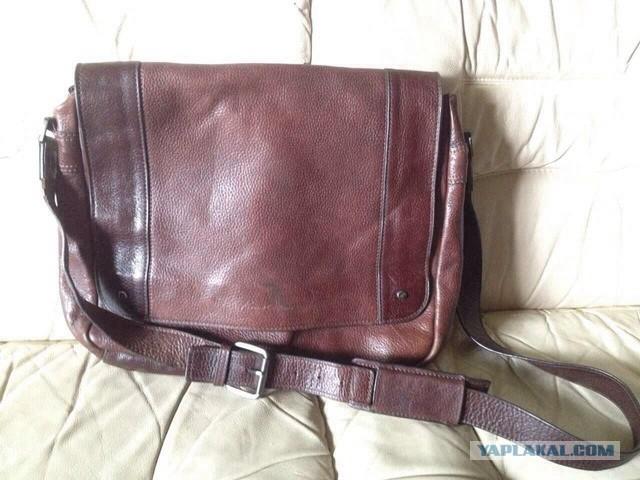 Кожанную, мужскую сумку Kenneth Cole в Мск продам