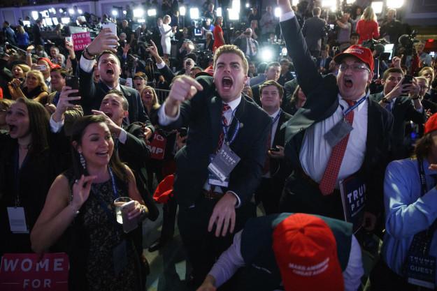 Как поклонники Трампа празднуют его победу
