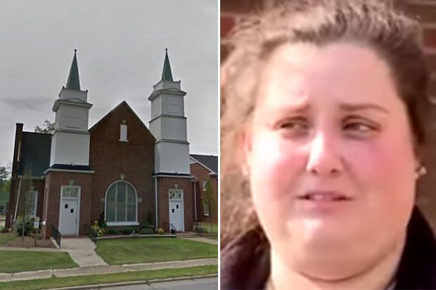 В США 19-летняя девушка вырвала себе глаза возле церкви