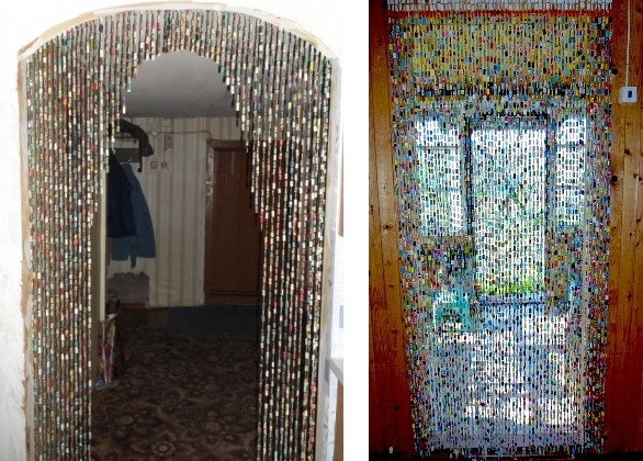 Шторы на двери своими руками из подручных материалов