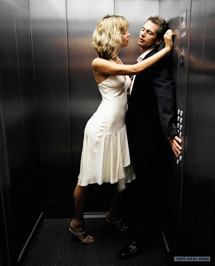 Русский секс в лифте девочки 4 фотография