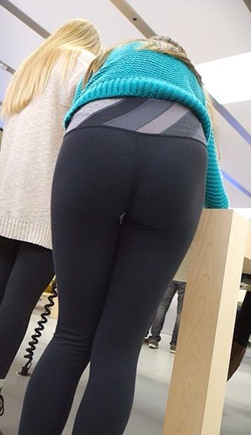 High school girl yoga pants