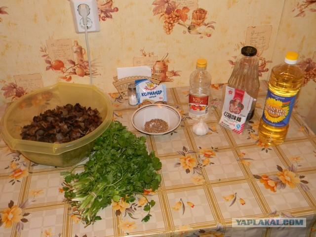 Корейский салат из древесных грибов «Муэр»