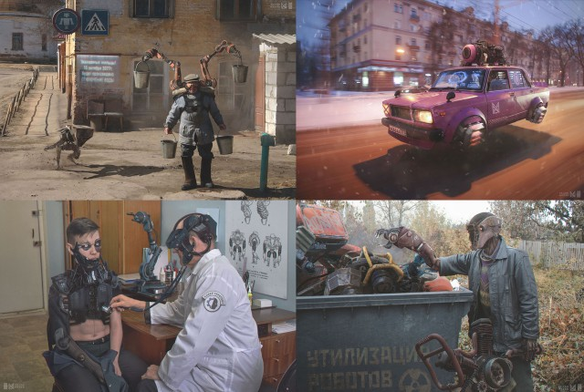 «Russia 2077» новый проект от художника и графического дизайнера Евгения Зубкова