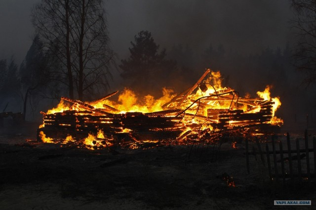Пожары в рязанской области