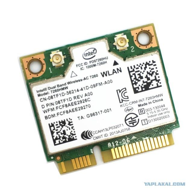 Intel 7260hmw Wifi 802.11ac 2.4/5ghz miniPCIe