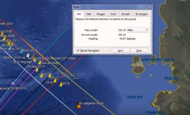 Магнитный полюс сместился на 400 км за месяц!