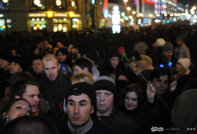 Центр Москвы в новогоднюю ночь