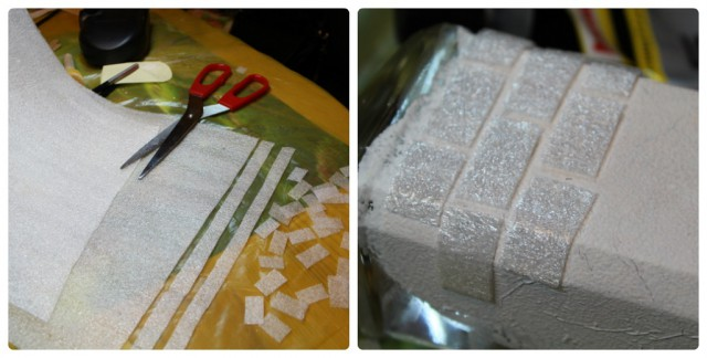 Декоративные кирпичи из бумаги