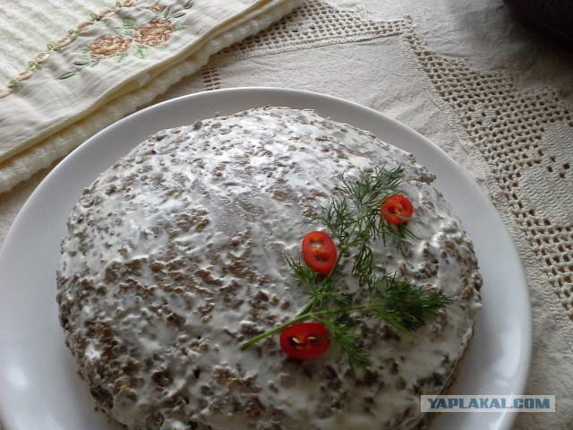 Кулинарные рецепты с фотографиями печеночный торт