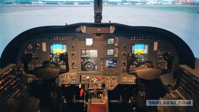 Запуск двигателей самолёта
