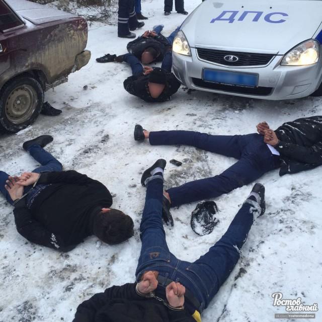 Утро выдалось жарким! Полиция задержала пятерых автоворов на белой гранте