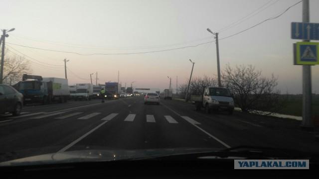 Из-за визита Владимира Путина в Краснодар не пускали грузовики