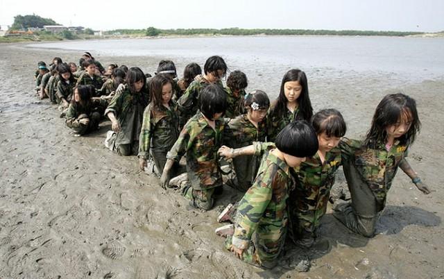 Детские военные сборы в Южной Корее