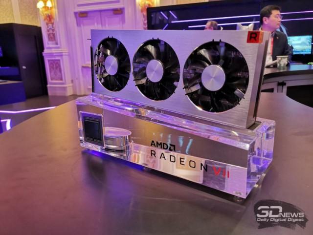 Компания AMD представила флагманскую видеокарту Radeon VII