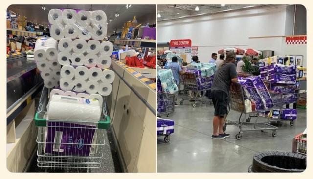 В Австралии массово скупают туалетную бумагу. Местная газета издала выпуск с дополнительными (мягкими) страницами