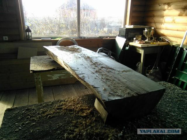 Как самому изготовить стол из цельного ствола бере