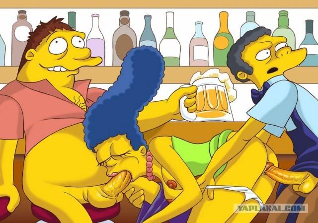 Смотреть порно симпсоны гомер лижет ноги мардж