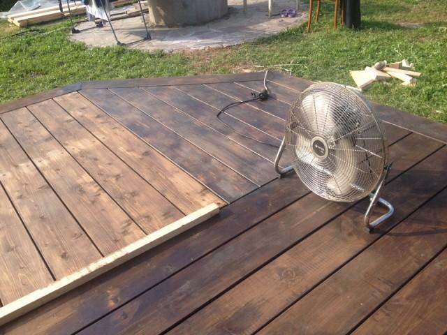 Открытая терраса на даче