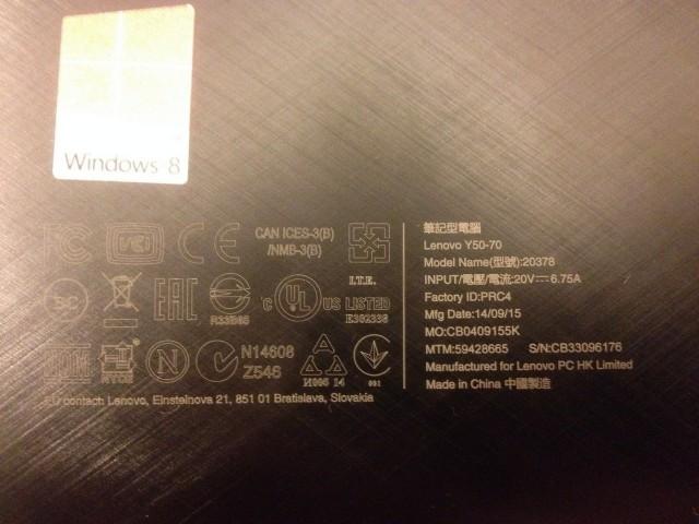Продам Lenovo IdeaPad Y5070 Core i7-4710HQ