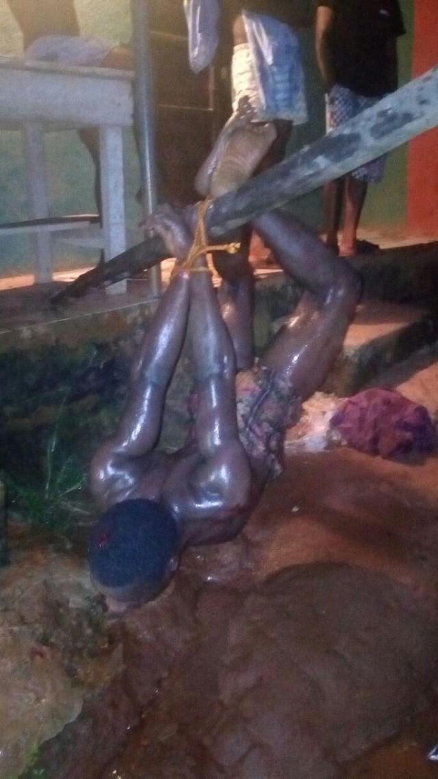 Жесткое наказание вора, попытавшегося ограбить дважды один и тот же дом в Бенине