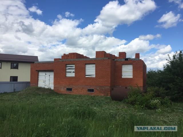 Продаю участок 10 сот с недостроенным домом, МО, г. Бронницы