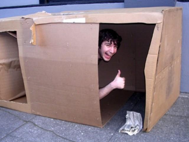 Картонная коробка в домашних условиях