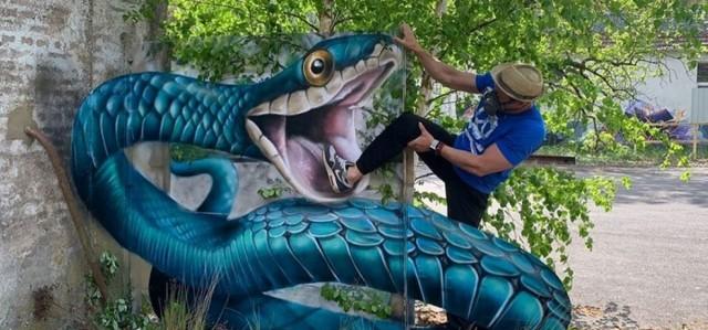 Художник создает невероятно реальные 3D граффити, от которых захватывает дух