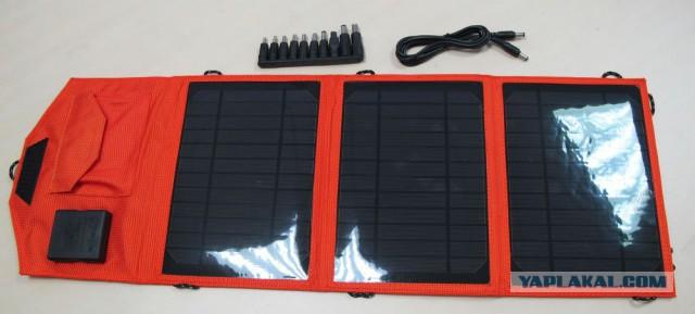 Зарядка для акума, телефона и ноутбука от солнца
