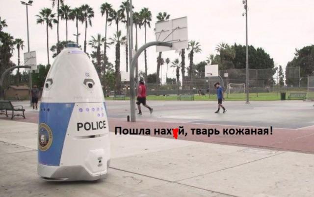 Жительница США увидела драку и обратилась к роботу-полицейскому. Тот вместо помощи приказал ей «убраться с дороги»
