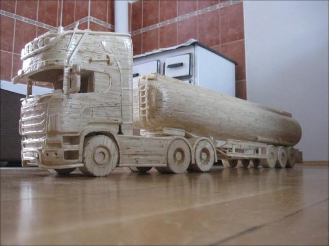 Модели техники из дерева