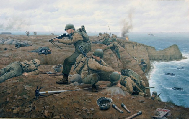 Штурм Пуэнт-дю-Ок: американские рейнджеры на скалах Нормандии