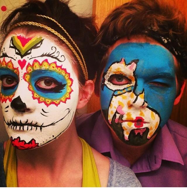 """""""С женой разрисовали лица друг друга..."""