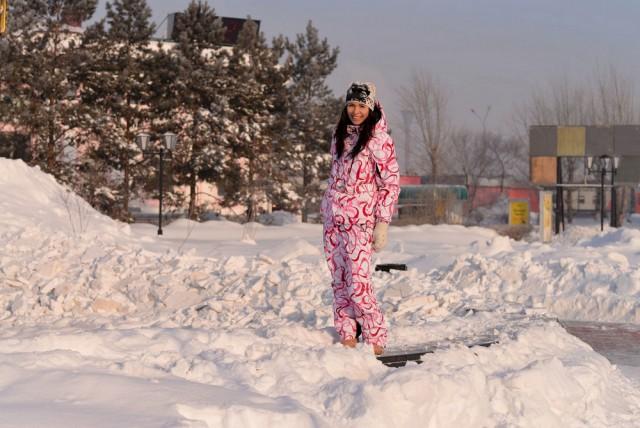 Марина разделась зимой в Комсомольске на Амуре