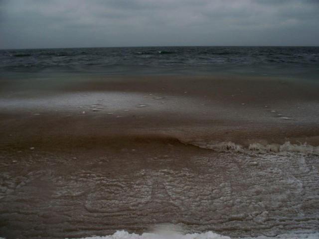 У побережья Крыма «гелевый шторм»,море начинает замерзать