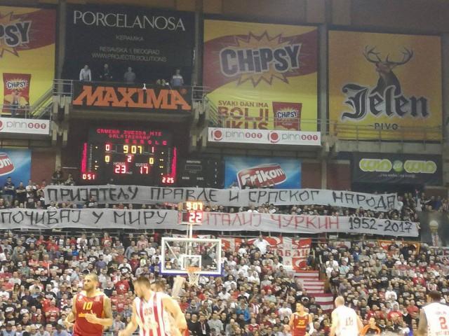 Сербские фанаты почтили память Чуркина