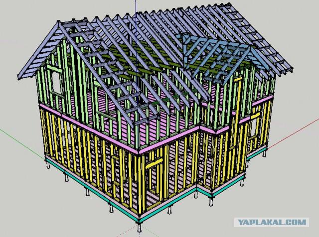 Строительство правильного каркасного дома...