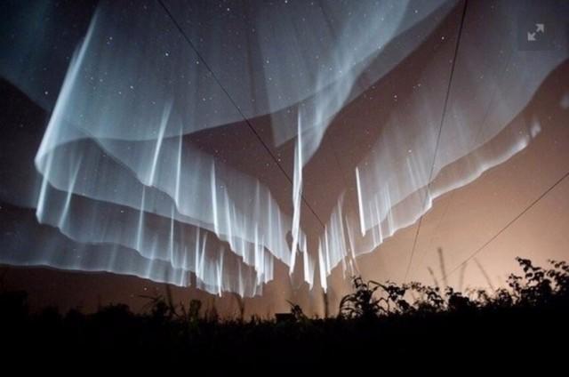 Редчайшее северное сияние было запечатлено недавно в небе над Финляндией