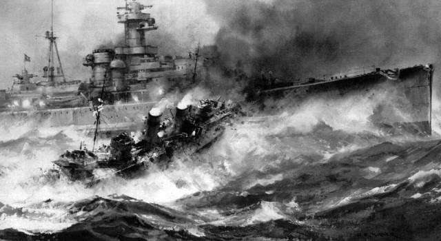 британский эсминец «Глоуворм» против немецкого крейсера «Хиппер»