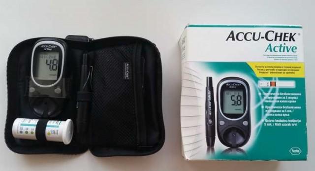 Глюкометр Accu-chek active отдам