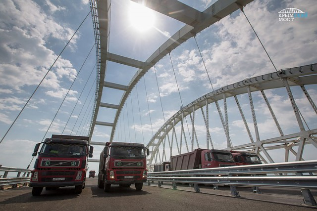 Крымский мост протестировали перед открытием