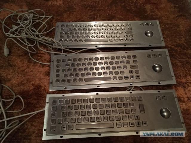 Клавиатуры с трэкболом из нержавейки (антивандальные)