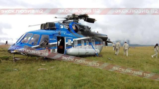Жесткая посадка вертолета