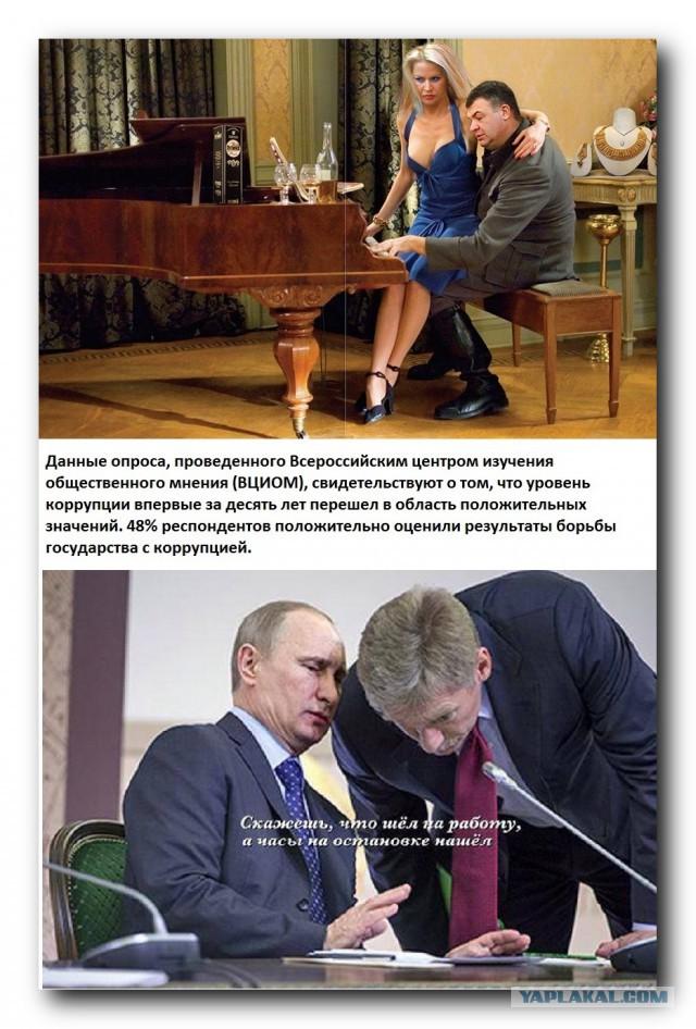 Россияне ощутили снижение уровня коррупции