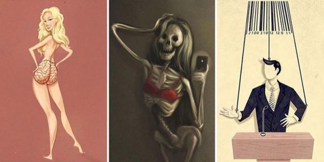 Вся правда современной жизни в саркастических иллюстрациях
