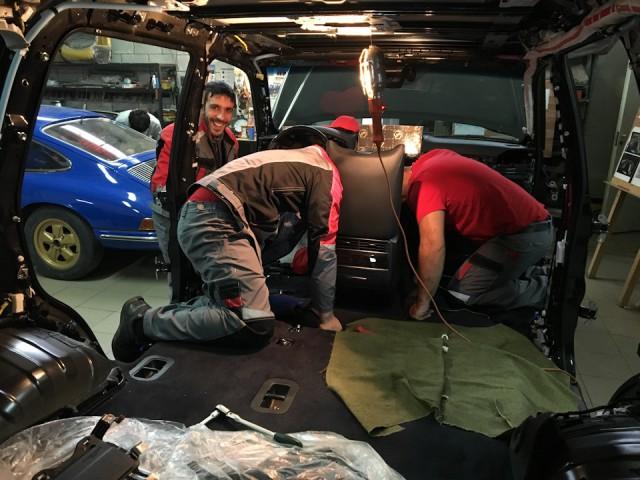 Новый Лексус 570 под нож! Переделка нового авто под проект