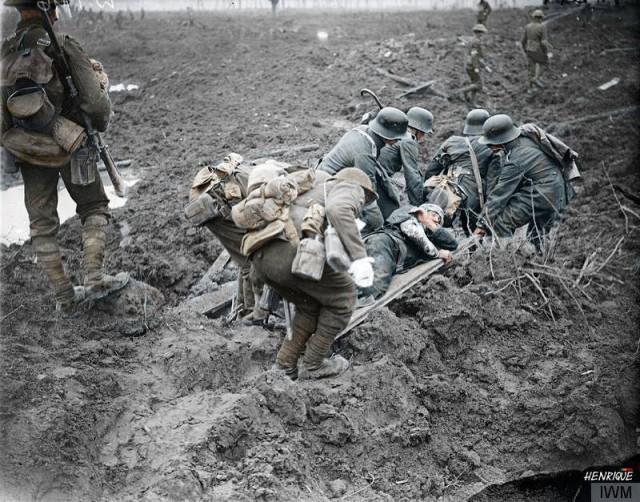 Раскрашенные фото Первой мировой