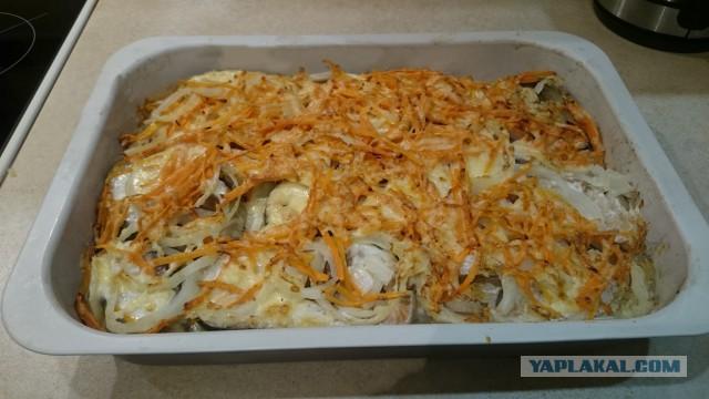 Кета с рисом в духовке рецепты