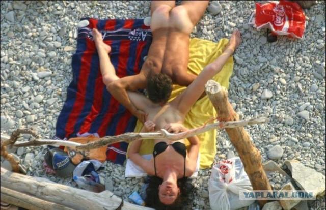 секс на пляже подсмотренный фото